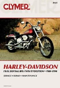 Clymer Repair Manual Harley-Davidson FLS/FXS Evolution 1984-1999
