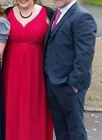 Maxi dress bright pink size 24-26
