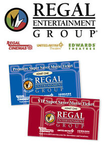 4 VIP Super Saver Movie Tickets Regal Cinemas Edwards Theaters United Artist