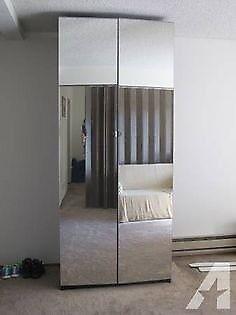 Ikea Vikedal Mirrored wardrobe doors x 2 (Pair) in