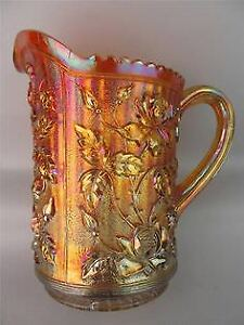 VARIOUS CARNIVAL GLASS MARIGOLD LUSTRE PITCHER PLATE