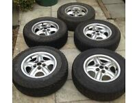 Land Rover Discovery 2 TD5 / Range Rover P38 Alloy wheels with good tyres
