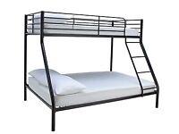 Home Willen Black Triple Bunk Bed