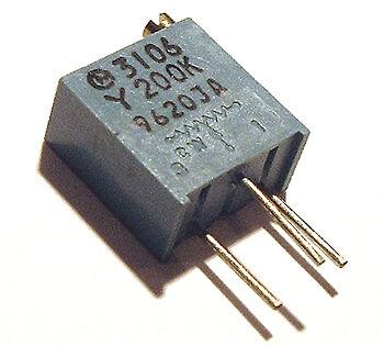 200k Ohm Trimmer Trim Pot Variable Resistor 3106y 10