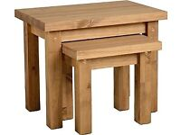 NEW Solid Block Nest of tables get it today only £55