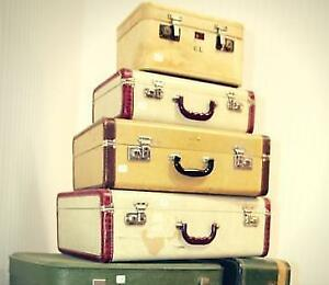 VALISES des années 1940 à 1970 - Bonne Qualité - RETRO VINTAGE used Good Quality LUGGAGE from the 1940s to the 1970s