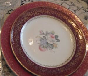 Antique Victorian ,Georgian China 1885 23 karat gold