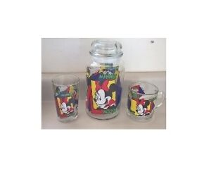 Disney Mickey Mouse, Minnie Mouse & Donald Duck Juice/Cookie Jar