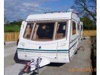 2002 ABBEY SAFARI 520S CARAVAN MOTOR MOVER END BATHROOM DINETTE 4 BERTH DOUBLE BED