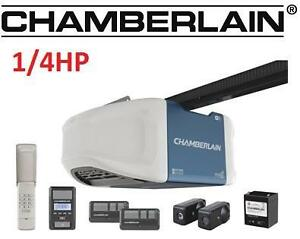 NEW CHAMBERLAIN GARAGE DOOR OPENER - 112660077 - Chamberlain 1-1/4 HPS Belt Drive Wi-Fi Garage Door Opener
