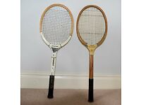 Two 1940's tennis racquets, in good condition