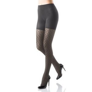 NEW Spanx Tight-End Tights Diamond Charcoal Womens Sz A Gray NEW Bodyshaping