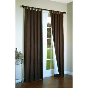 New Thermal Insulated Tab Top Black Out Drapes 80X54 Chocolate  FREE SHIPPING!