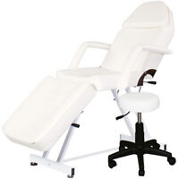 HYDRAULIC/ELECTRIC FACIAL MASSAGE BED , STEAMER, TROLLEY