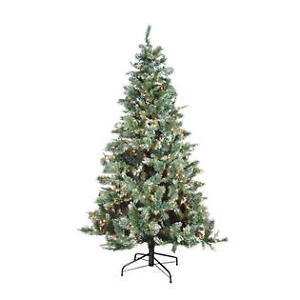 7.5' Pre-lit Whistler Pine Christmas Tree Frosted (NEW)