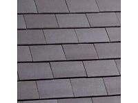 "NEW: 19 x ""Tile and a half"" clay roof tiles - Staffs Blue Sandfaced"