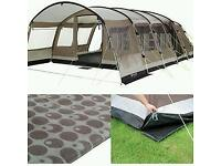 Outwell Arkansas 7 plus extension, groundsheet and carpet