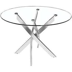 Glass Dinning Table 6 White Chairs - SAVINGS OF $830+