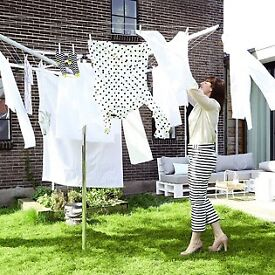 Brabantia (clothesline) 60m Rotary Washing Line Lift O Matic Dryer & Green Cover 4 Arm - RRP £90