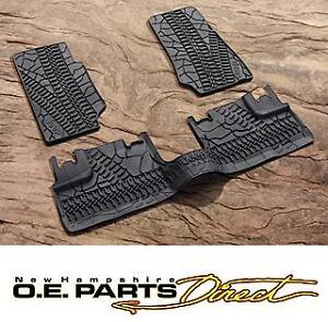 2007-2012 Jeep Wrangler Unlimited 4 Door Mopar Rubber Slush Floor Mats