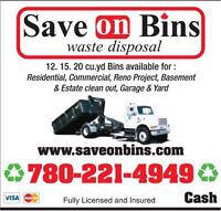 Low Cost Bin Rental :: Save On Bins Edmonton 780-221-4949