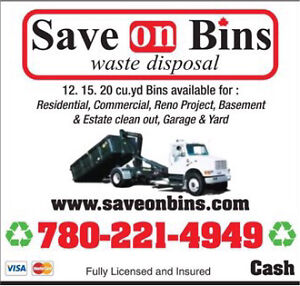 Low Cost Bin Rental :: Save On Bins Edmonton 780-221-4949 Strathcona County Edmonton Area image 1