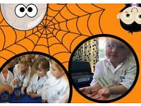 Halloween themed science class for 2-5 year olds.