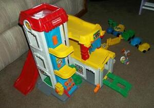 Fisher Price Little People 3 Level Garage + Cars + Accessories London Ontario image 2