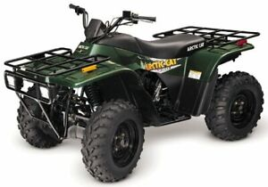 WANTED PARTS FOR 01 ARCTIC CAT 400 4X4