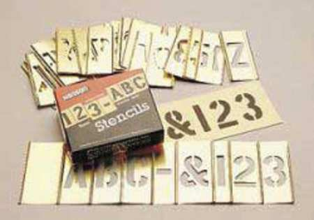 C.H. HANSON 10073 Interlocking Stncls,Numb & Letters,Brass