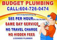 ** LICENSED  Plumber ** PLUMBING ** Repair Install NO TRAVEL FEE