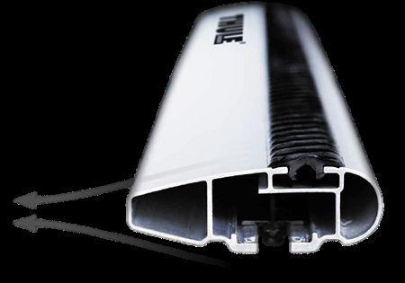 Aerodynamic aluminium roof bars from THULE