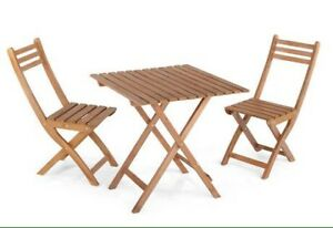 New Wooden 3pc Bistro Set