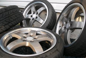 """18"""" Alloy wheels & tyres for MK4 vw golf and some Audis"""
