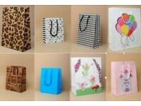 100 ASSORTED GIFT BAGS in 10 DIFFERENT DESIGNS * JOB LOT * BRAND NEW