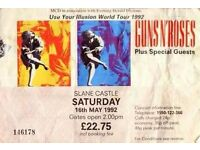 Slane may 27th of may quick sale tickets