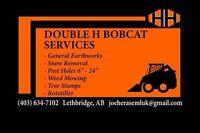 Double H bobcat Services / landscaping / snow removal
