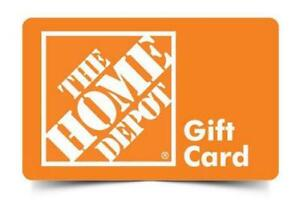 Home Depot gift cards or store credit
