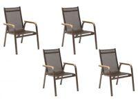 Genuine Kettler Granada Garden Chairs x 4 with wood arms