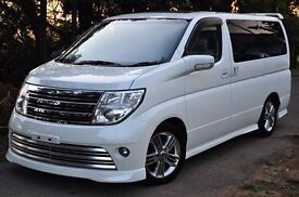 Nissan Elgrand Rider Autotech 4wd, 8 seats, Leather Interior, Curtains,Lots of Extras, Stunning