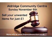 Aldridge AUCTION Sunday November 6th