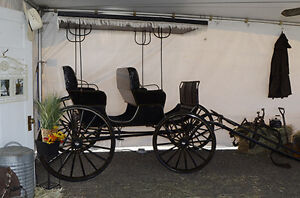 Aimish Antique Horse Carriage Surrey Buggy For Sale Williams Lake Cariboo Area image 2