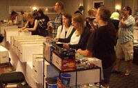 Toy Dealer Tables for Kelowna Collectibles Show Sunday July 26