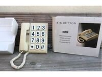ORIGINAL VINTAGE RETRO WHITE DIALATRON BIG BUTTON HOUSE PHONE BOXED SHOP DISPLAY
