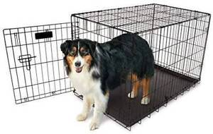 """34"""" cage kennel crate $30.00 with 3 wheels no tray"""