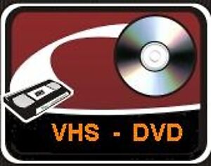 We convert to DVD all VCR-VHS family videotapes PAL/Secam NTSC W