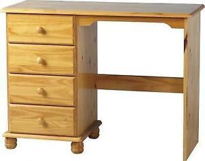 Pine Desk Dressing Table