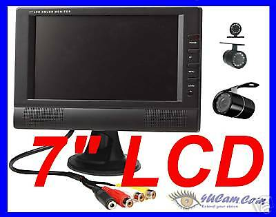 "7"" LCD monitor Wireless Rearview Backup Car RV Trailer IR Night Vision Camera"