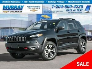 2018 Jeep Cherokee Trailhawk *Low Kilometre, Remote Start, Bluet