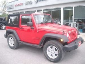 2014 Jeep Wrangler Sport 6 Speed4X4 Soft TOP Belleville Belleville Area image 2